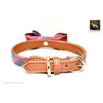 Universe Plaid Bowtie Leather Collar 4