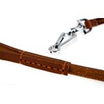 Quick Release Leather Leash stitching