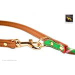 Garden Plaid Bow Tie Leather Leash 4