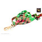 Garden Plaid Bow Tie Leather Leash 2