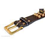 Gladiator V Black Studded Leather Collar 4