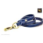 Love Knot II Blue Leather Leash