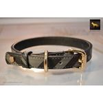 Black Designer Leather Collar