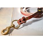 Fire Thick Leather Leash