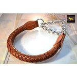 Roman Braid Leather Collar
