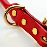 LPNY Rolly Red Leather Collar4
