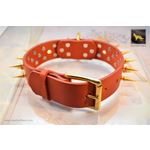 Gladiator IV Spiked Leather Collar 4