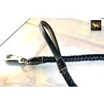 Statement II Black Braided Leather Leash 2