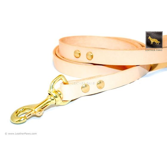 Sand Beige Leather Leash (Limited Edition) 2