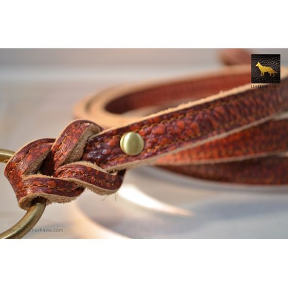 Fire Thick Leather Leash 2