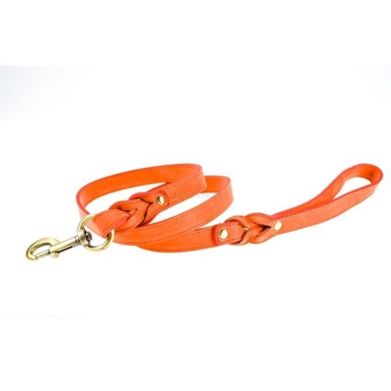 Love Knot II Peach Leather Leash 2