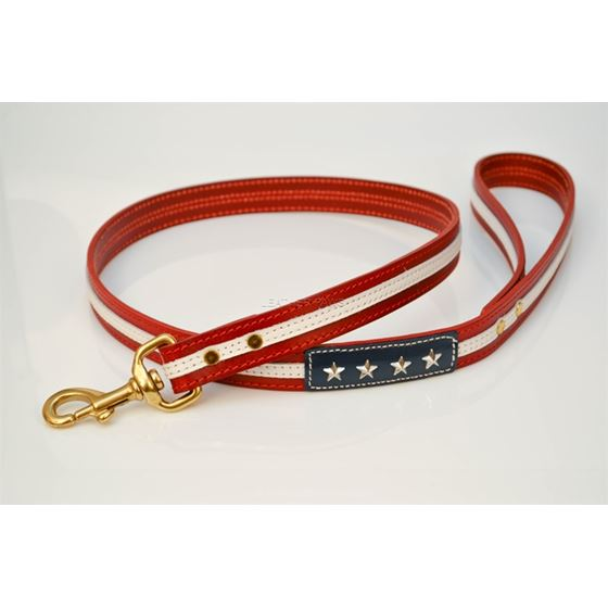 LPNY USA Pride Leather Dog Leash