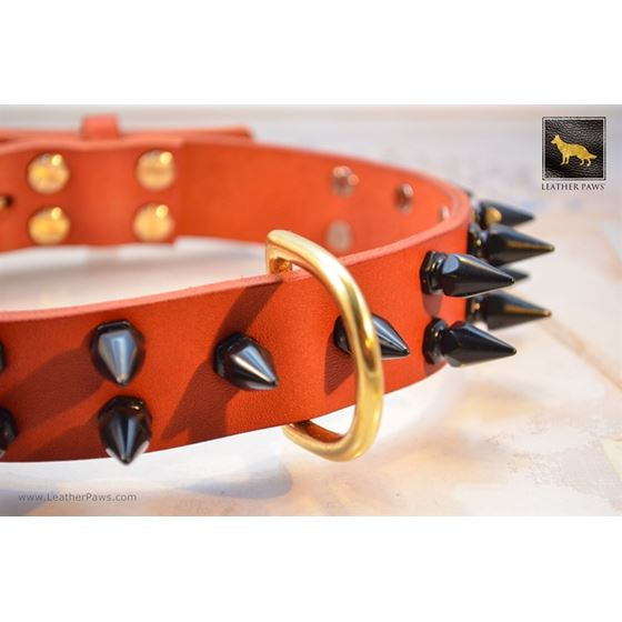 Gladiator II Spiked Leather Collar 2