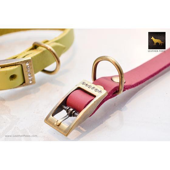 Tiny Diamonds II Soft Leather Collar 2