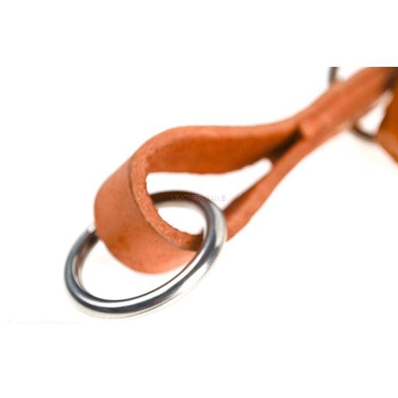 Roman III Braid Leather Collar clasp