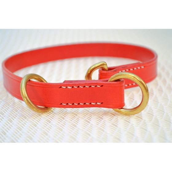 LPNY Hybrid Red Leather Dog Collar