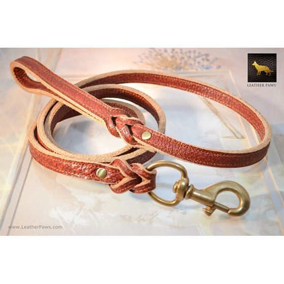 Fire Thick Leather Leash 4