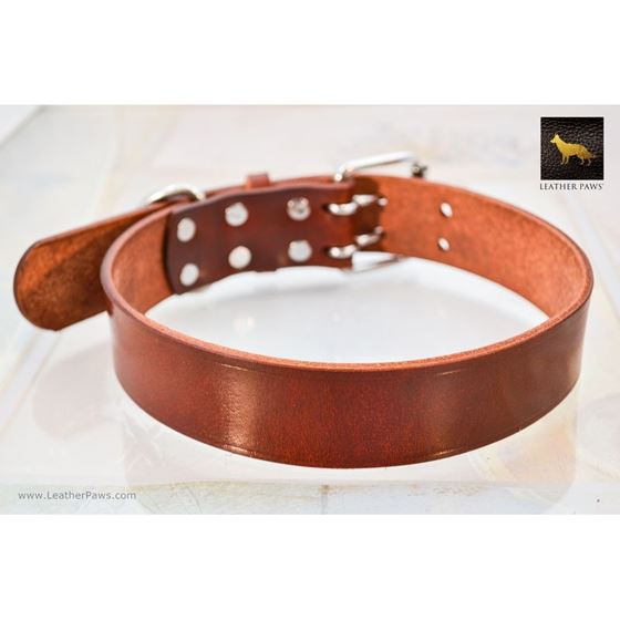 Mahogany Leather Collar 2
