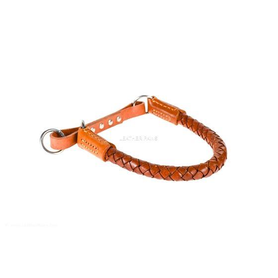Roman III Braid Leather Collar Side 2