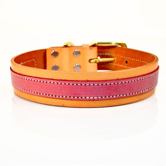 LPNY Pink Leather Collar 2