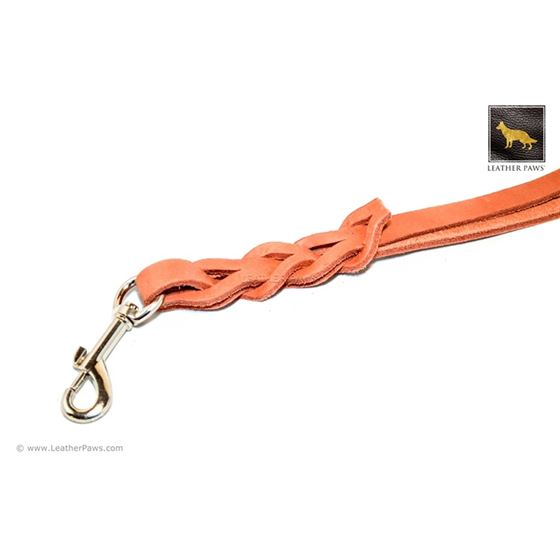 Terracotta Love Knot Short Leather Leash 2