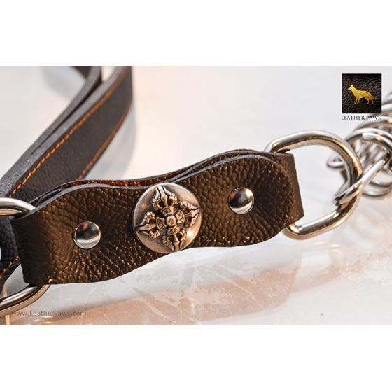 Warrior Short Leather Leash 4