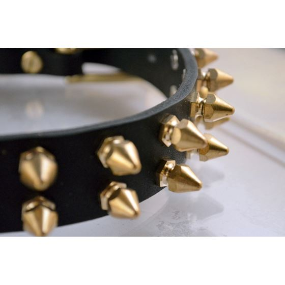 Gladiator Spiked Leather Collar 2