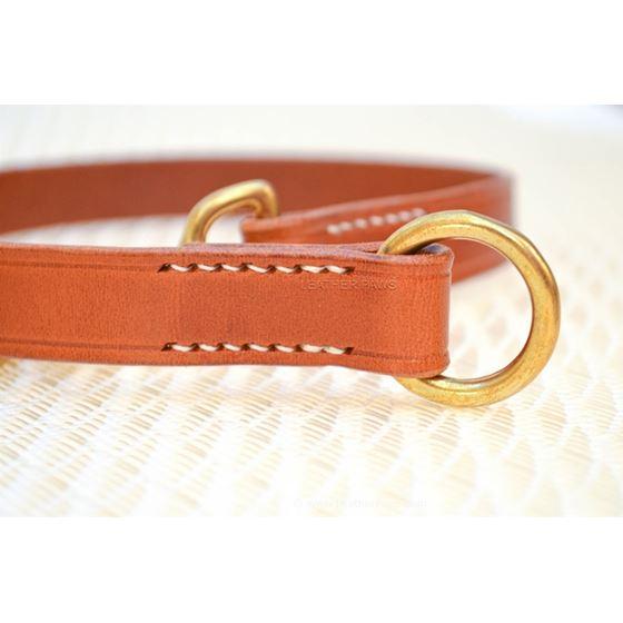 LPNY Hybrid Brown Leather Dog Collar