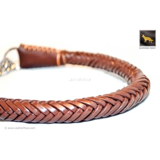 Roman II Braid Martingale Leather Collar