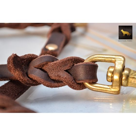 Love Knot Coupler Leather Leash 2