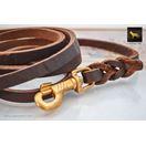 Love Knot Braid Leather Leash