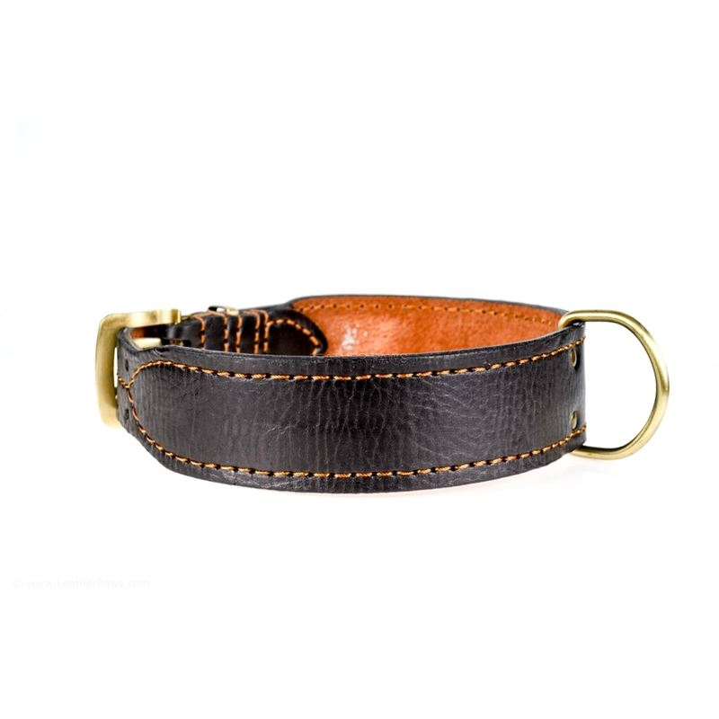 Leather Paws Monster III Leather Dog Collar Side