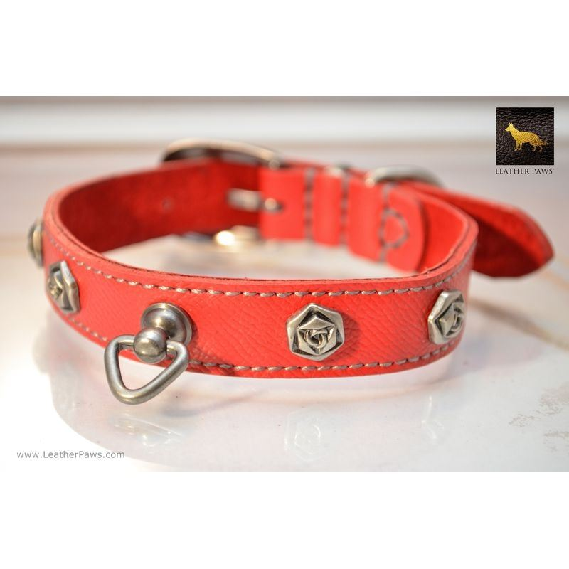 Blacksmith Rose Leather Collar
