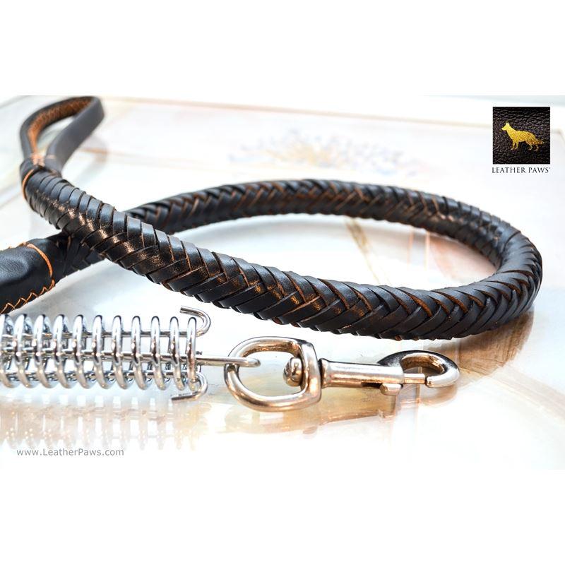 Statement II Black Braided Leather Leash