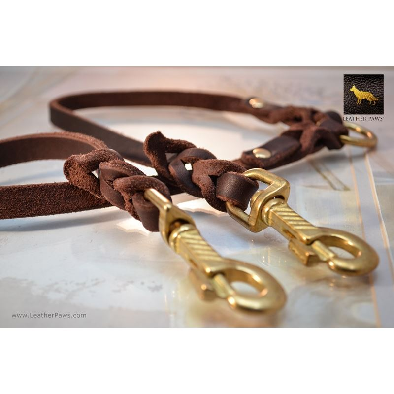 Love Knot Coupler Leather Leash