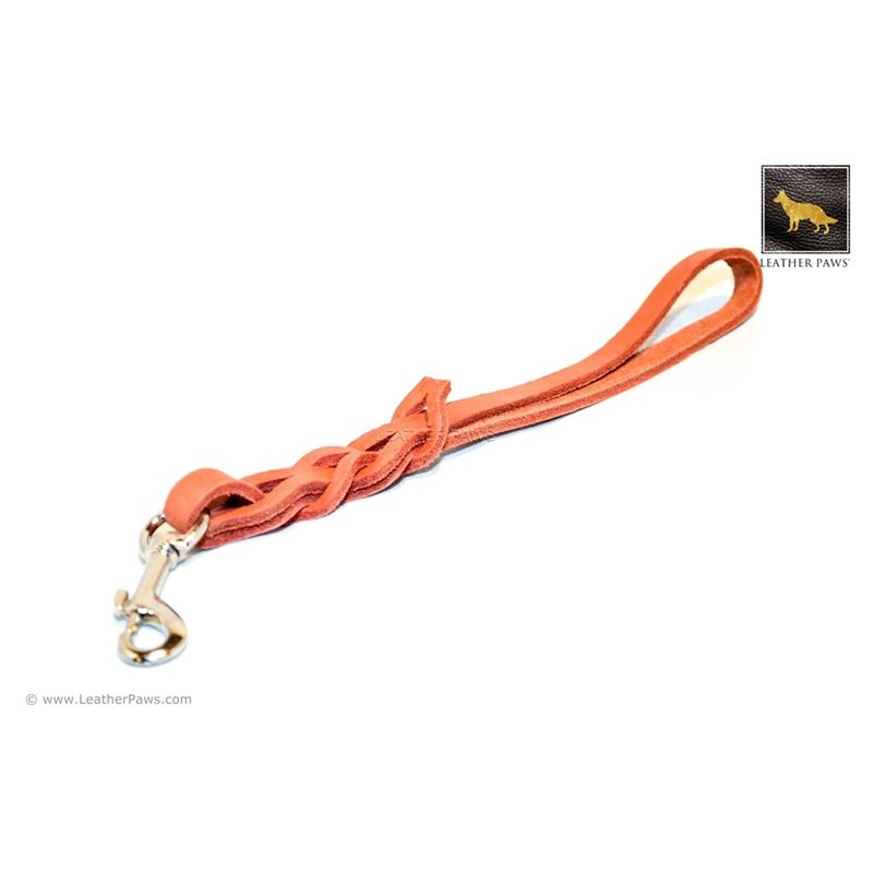 Terracotta Love Knot Short Leather Leash