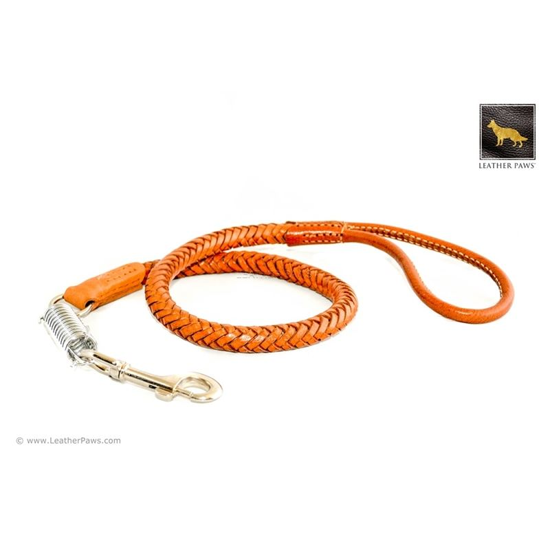 Statement II Brown Braided Leather Leash