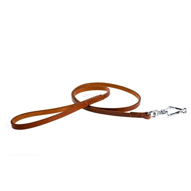 Quick Release Leather Leash Front