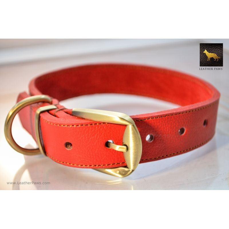 Horizon Red Leather Collar
