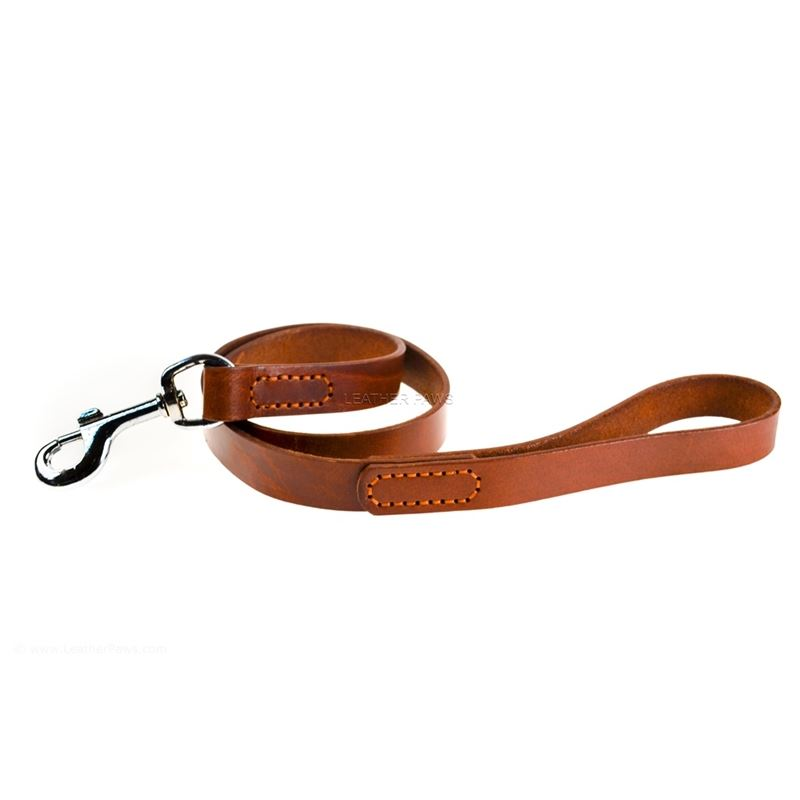 Red Mahogany Leather Leash