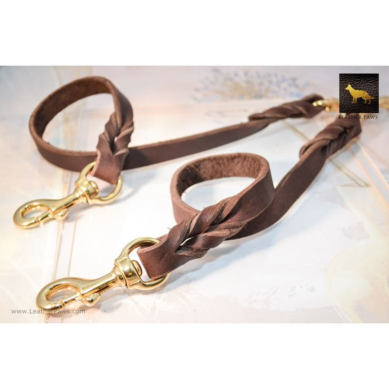 Love Knot Coupler II Leather Leash