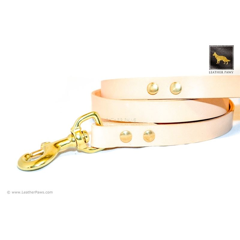 Sand Beige Leather Leash (Limited Edition) 4
