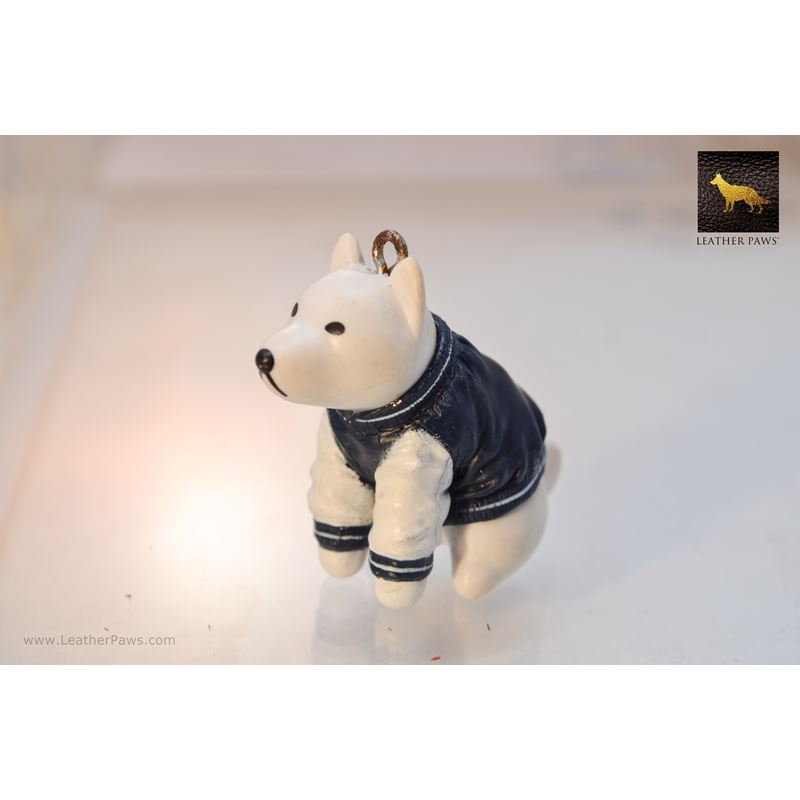 Dog In Blue Jacket Figurine