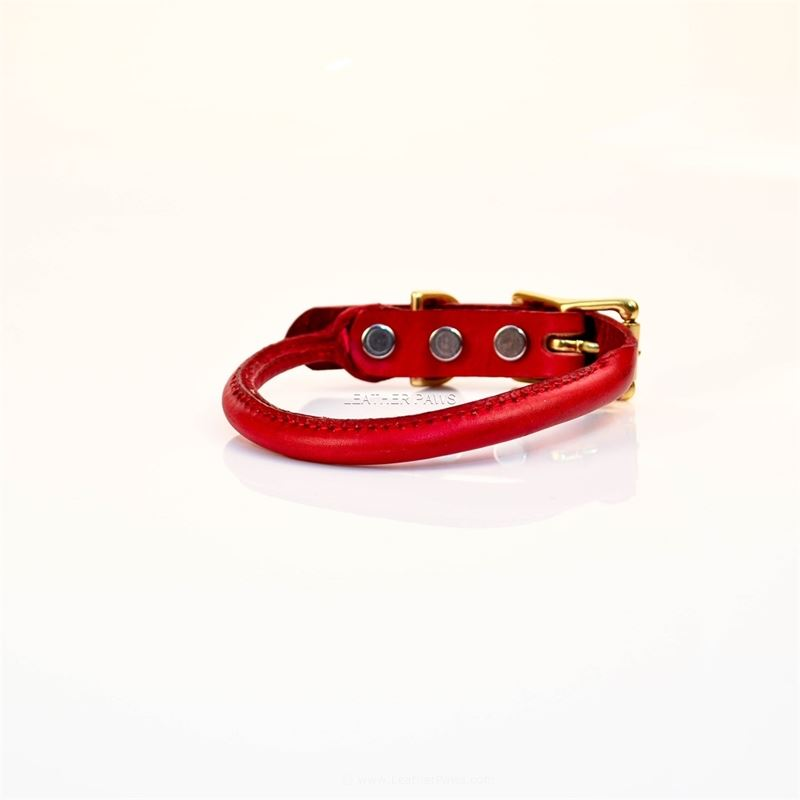LPNY Rolly Red Leather Collar